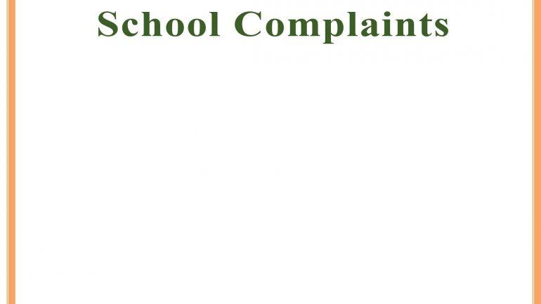 Guidelines for Handling School Complaints